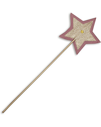 Numero 74 Glitter Star Wand - Rose & Gold Sparkling Tulle Dressing Up & Role Play