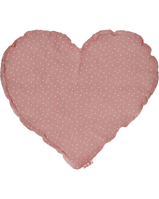 Numero 74 Heart Cushion Medium - Dusty Pink with White Stars Cushions