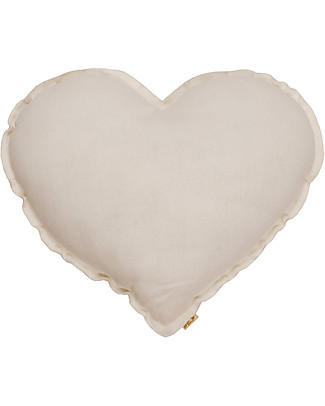 Numero 74 Heart Cushion Medium, Natural Cushions