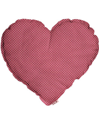 Numero 74 Heart Cushion Medium - Rose with White Dots Cushions