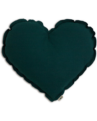 Numero 74 Heart Cushion Medium - Teal Blue Cushions