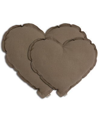 Numero 74 Heart Cushion Small - Beige Cushions