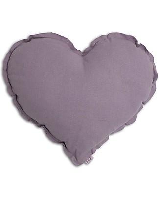 Numero 74 Heart Cushion Small,  Dusty Lilac Cushions