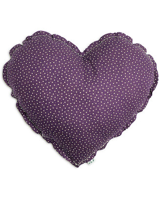 Numero 74 Heart Cushion Small - Purple with Beige Stars Cushions