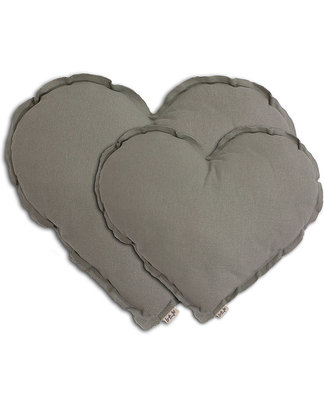 Numero 74 Heart Cushion Small - Silver Grey Cushions