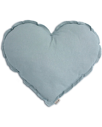 Numero 74 Heart Cushion Small, Sweet Blue null