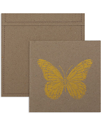 Numero 74 Invitation Cards with Envelopes, Pack of 6,  Butterfly/Gold Invitation Cards