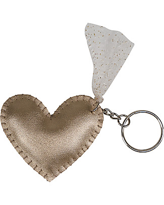 Numero 74 Iridescent Heart Keychain - Gold - Perfect Gift! Party Favours