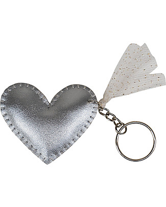 Numero 74 Iridescent Heart Keychain - Silver - Perfect Gift! Party Favours