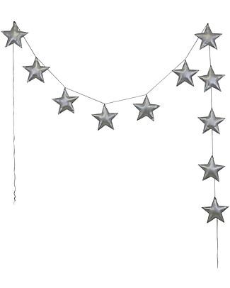 Numero 74 Iridescent Mini Star Garland, Silver - 2,5 m  Bunting
