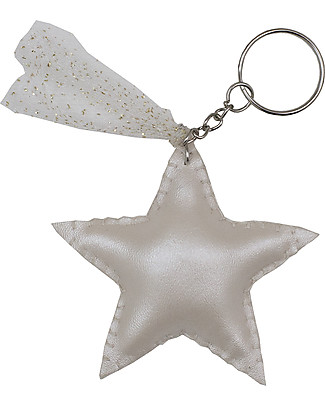 Numero 74 Iridescent Star Keychain - Cream - Perfect Gift! Party Favours