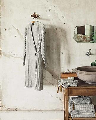 Numero 74 Joy Bathrobe Mum, Silver Grey - 100% organic cotton gauze waffle Towels And Flannels