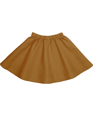 Numero 74 Julia Skirt Baby & Kid, Gold (1-2 years) - 100% organic cotton canvas Skirts