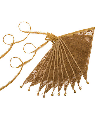 Numero 74 Lace Flower Bunting Garland, Gold - 2,5 metres Bunting