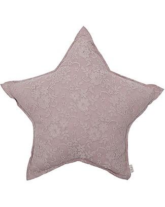 Numero 74 Lace Flower Star Cushion Mini, Dusty Pink Cushions
