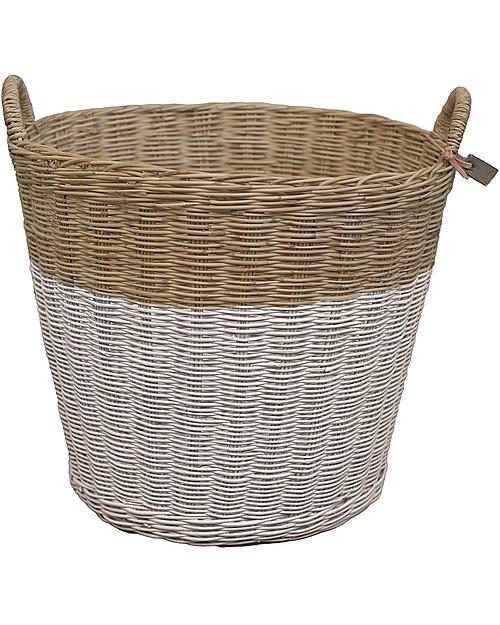 rattan basket small from storage box.htm numero 74 large rattan basket  powder unisex  bambini   numero 74 large rattan basket  powder