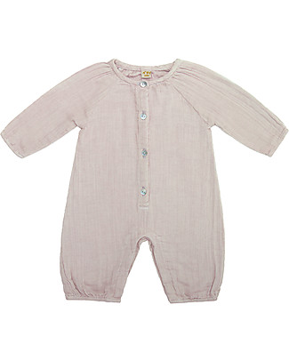 Numero 74 Leni Jumpsuit Baby, Powder - 100% organic cotton double saloo Dungarees