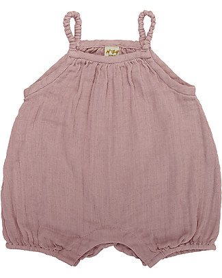 Numero 74 Lolita Romper Baby, Dusty Pink (9-12 months) - 100% organic cotton Short Rompers