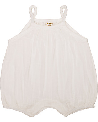 Numero 74 Lolita Romper Baby, Natural (9-12 months) - 100% organic cotton Short Rompers