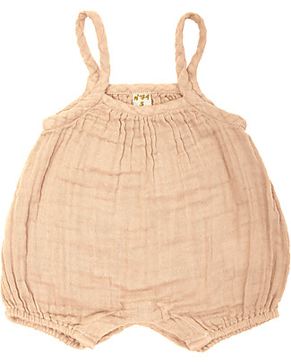 Numero 74 Lolita Romper Baby, Pale Peach (9-12 months) - 100% organic cotton Short Rompers