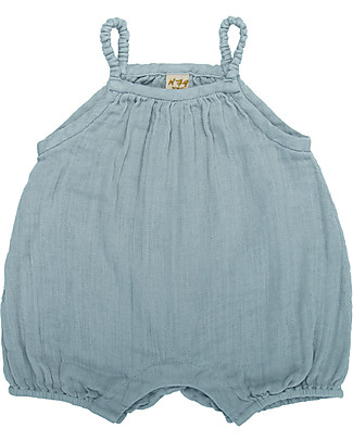 Numero 74 Lolita Romper Baby, Sweet Blue (3-6 months) - 100% organic cotton Short Rompers