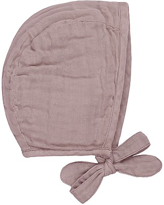 Numero 74 Lou Baby Bonnet, Dusty Pink (3-6 and 9-12 months) - 100% organic cotton Hats