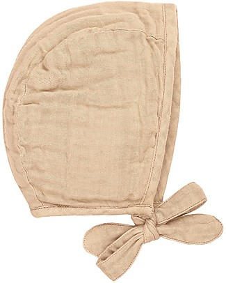 Numero 74 Lou Baby Bonnet, Pale Peach (3-6 and 9-12 months) - 100% organic cotton Hats
