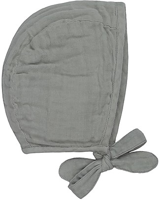 Numero 74 Lou Baby Bonnet, Silver Grey (3-6 and 9-12 months) - 100% organic cotton Hats