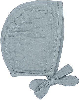 Numero 74 Lou Baby Bonnet, Sweet Blue (3-6 and 9-12 months) - 100% organic cotton Hats