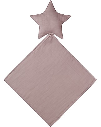 Numero 74 Lovely Star Doudou, Dusty Pink - Organic cotton Doudou & Comforters
