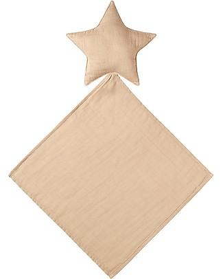 Numero 74 Lovely Star Doudou, Pale Peach - Organic cotton Doudou & Comforters