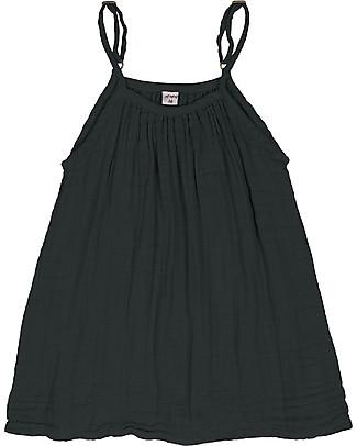 Numero 74 Mia Girl Dress - Dark Grey - Cotton Muslin Dresses
