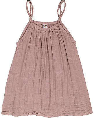 Numero 74 Mia Girl Dress - Dusty Pink (5-6 and 7--8 years) - Cotton Muslin Dresses