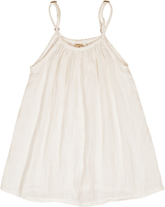 Numero 74 Mia Girl Dress - Natural - Cotton Muslin Dresses