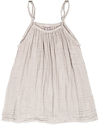 Numero 74 Mia Girl Dress, Powder (1-2 and 3-4 years) - Organic Cotton Muslin Dresses