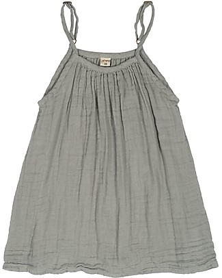 Numero 74 Mia Girl Dress - Silver Grey - 100% Muslin Cotton  Dresses