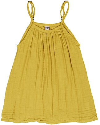 Numero 74 Mia Girl Dress, Sunflower Yellow (1-2 and 3-4 years) - Organic Cotton Muslin Dresses