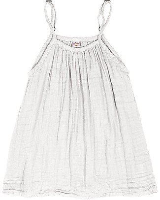 Numero 74 Mia Girl Dress - White - 100% Muslin Cotton  Dresses