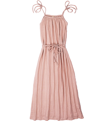 Numero 74 Mia Mum Long Dress - Dusty Pink- Cotton Muslin Dresses