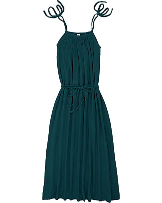 Numero 74 Mia Mum Long Dress - Teal Blue - Cotton Muslin Dresses