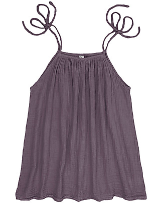 Numero 74 Mia Mum Short Tunic-Top, Dusty Lilac - Cotton Muslin Evening Tops