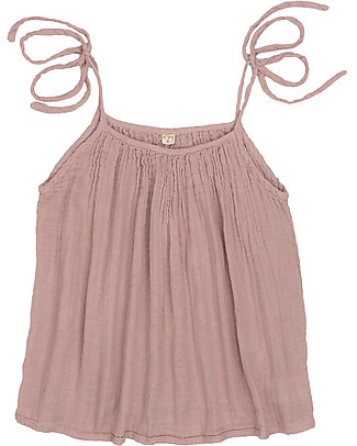 Numero 74 Mia Mum Short Tunic-Top, Dusty Pink - Cotton muslin Evening Tops