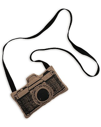 Numero 74 Mini Fabric Camera, Beige - Perfect party favour Party Favours