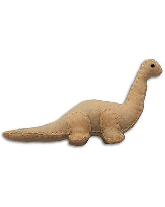Numero 74 Mini Fabric Dinosaur, Beige Brontosaurus - Perfect party favour Party Favours