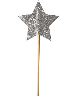 Numero 74 Mini Glitter Star Wand - Silver Sparkling Dressing Up & Role Play