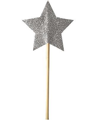 Numero 74 Mini Glitter Star Wand - Silver Sparkling null