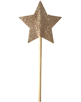 Numero 74 Mini Glitter Star Wand - Sparkling Gold Dressing Up & Role Play