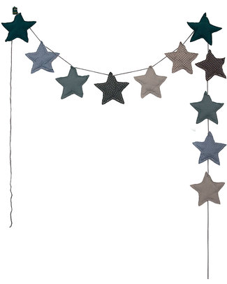 Numero 74 Mini Star Garland - Mix Blue/Green Bunting