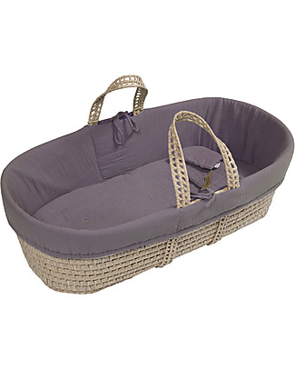 Numero 74 Moses Baby Basket - Dusty Lilac Cribs & Moses Baskets