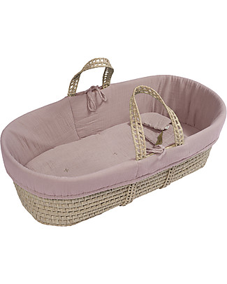 Numero 74 Moses Baby Basket - Dusty Pink Cribs & Moses Baskets
